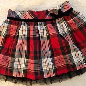5//$25 Carter's plaid, metallic, & tulle skirt